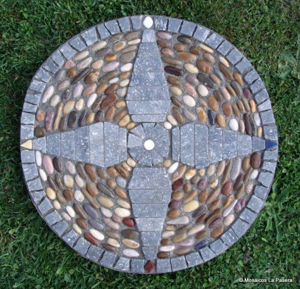 Mosaico decorativo. Los cuatro elementos