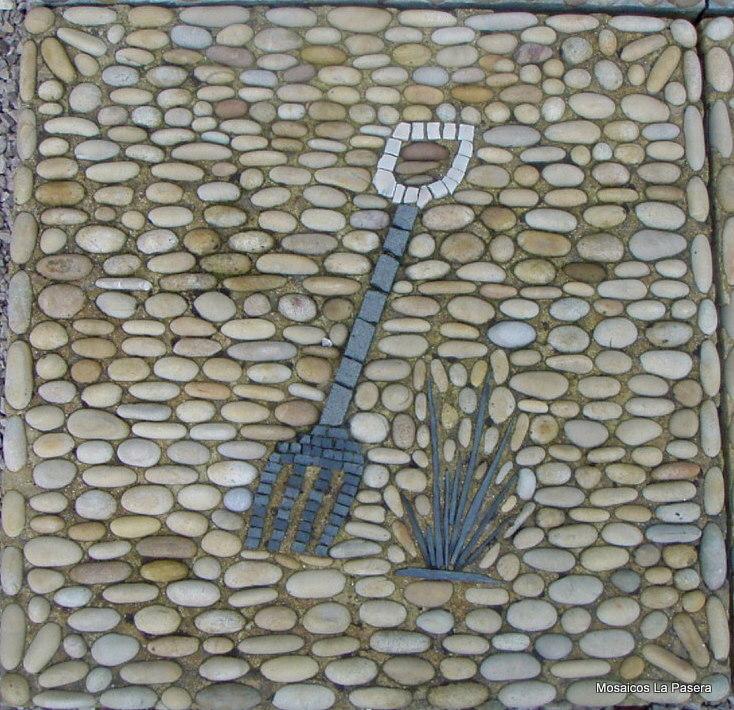 Dise o de jardines con mosaico de piedras 2 mosaicos la for Disenos para mosaicos