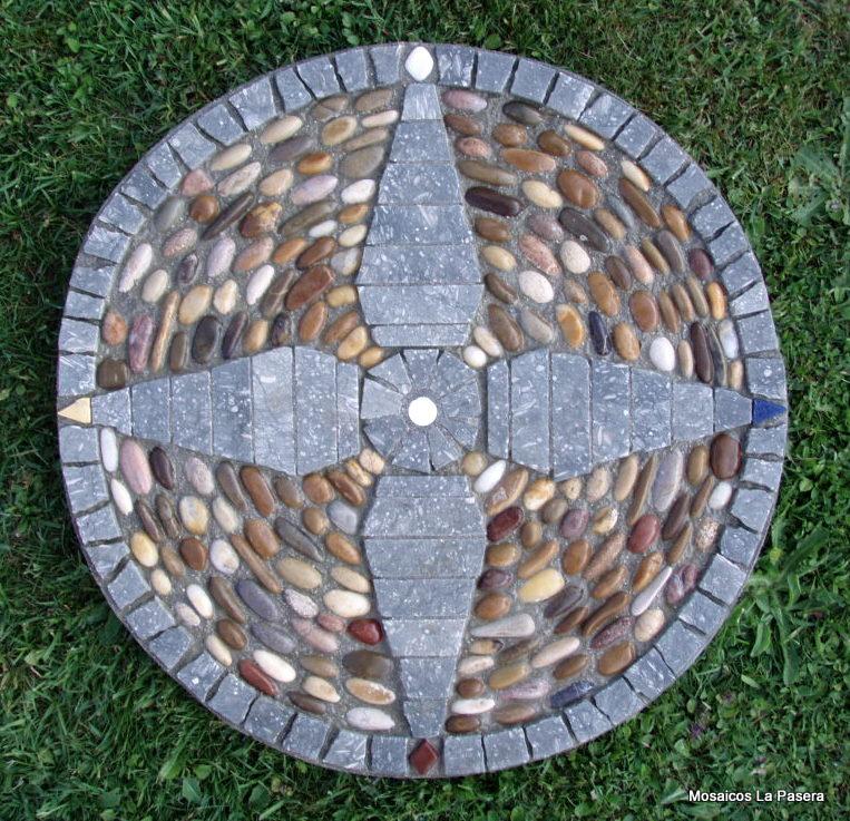 Mesa mosaico mosaicos la pasera for Mesa de jardin de piedra